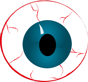 Eye clip ball. Bloodshot eyeball clipart
