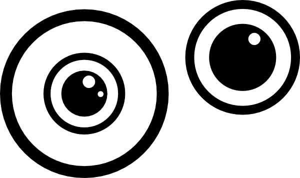 Minions eyes png. Eyeball eye clipart black