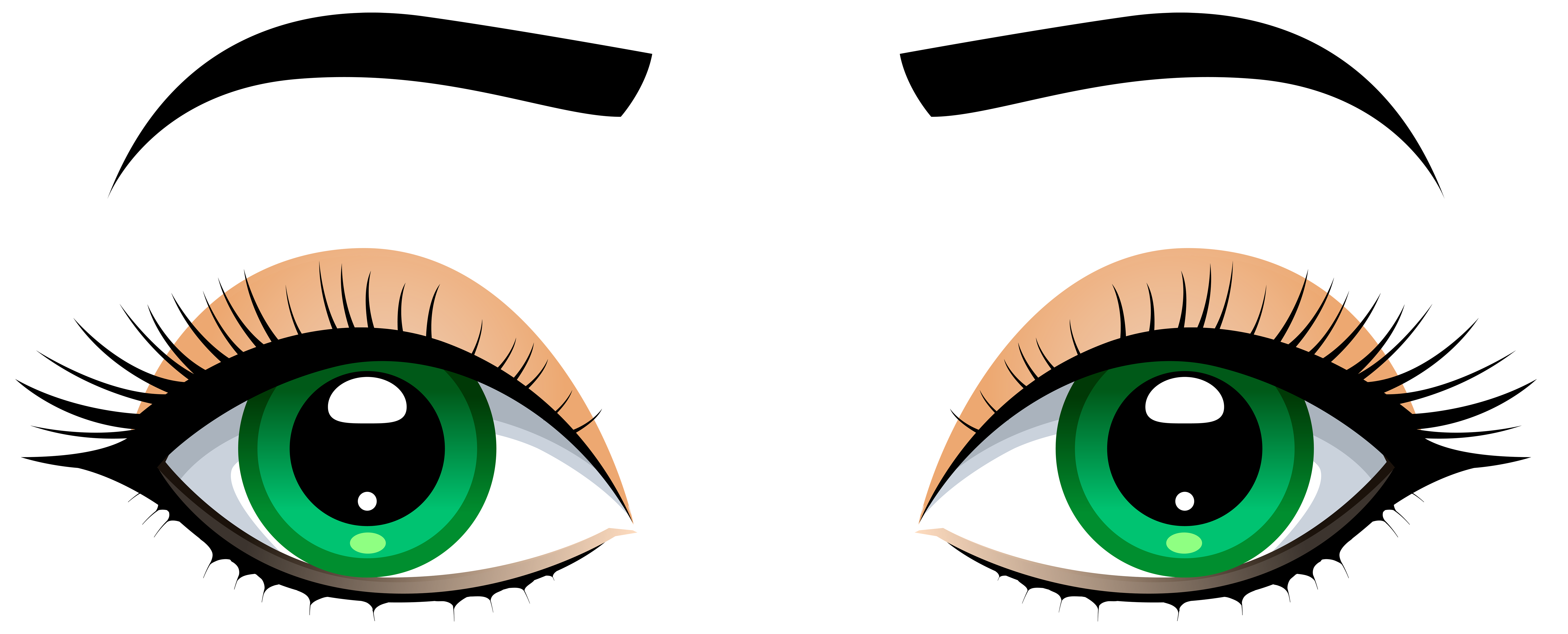 Eyes with eyebrows png. Eye clip female image free download