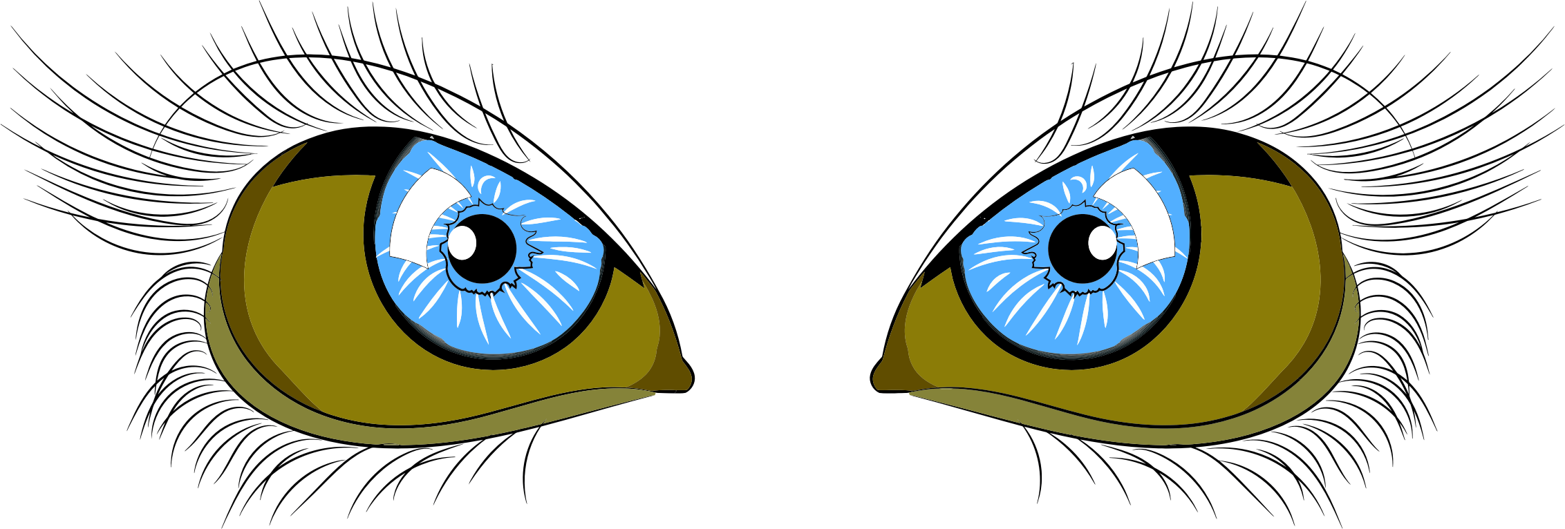 Eyebrow clipart blue eye. Eyes big image png