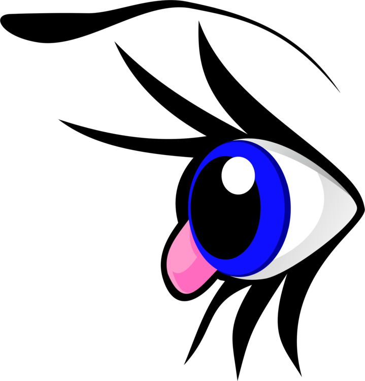 Eyebrow clipart blue eye. Animation cartoon anime free