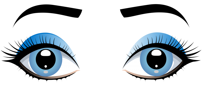 Download female eyes with. Eyebrow clipart blue eye banner transparent library