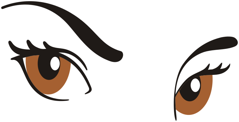 Eyebrow clipart blue eye. Free picture of brows