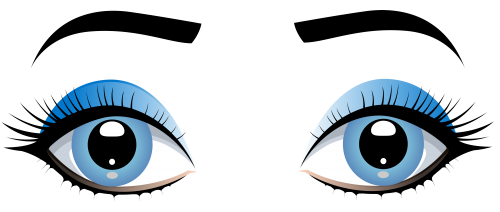 Female eyes with eyebrows. Eyebrow clipart blue eye svg royalty free stock