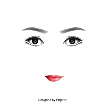 Brow and lashes template png for business cards. Eyebrows vectors psd clipart