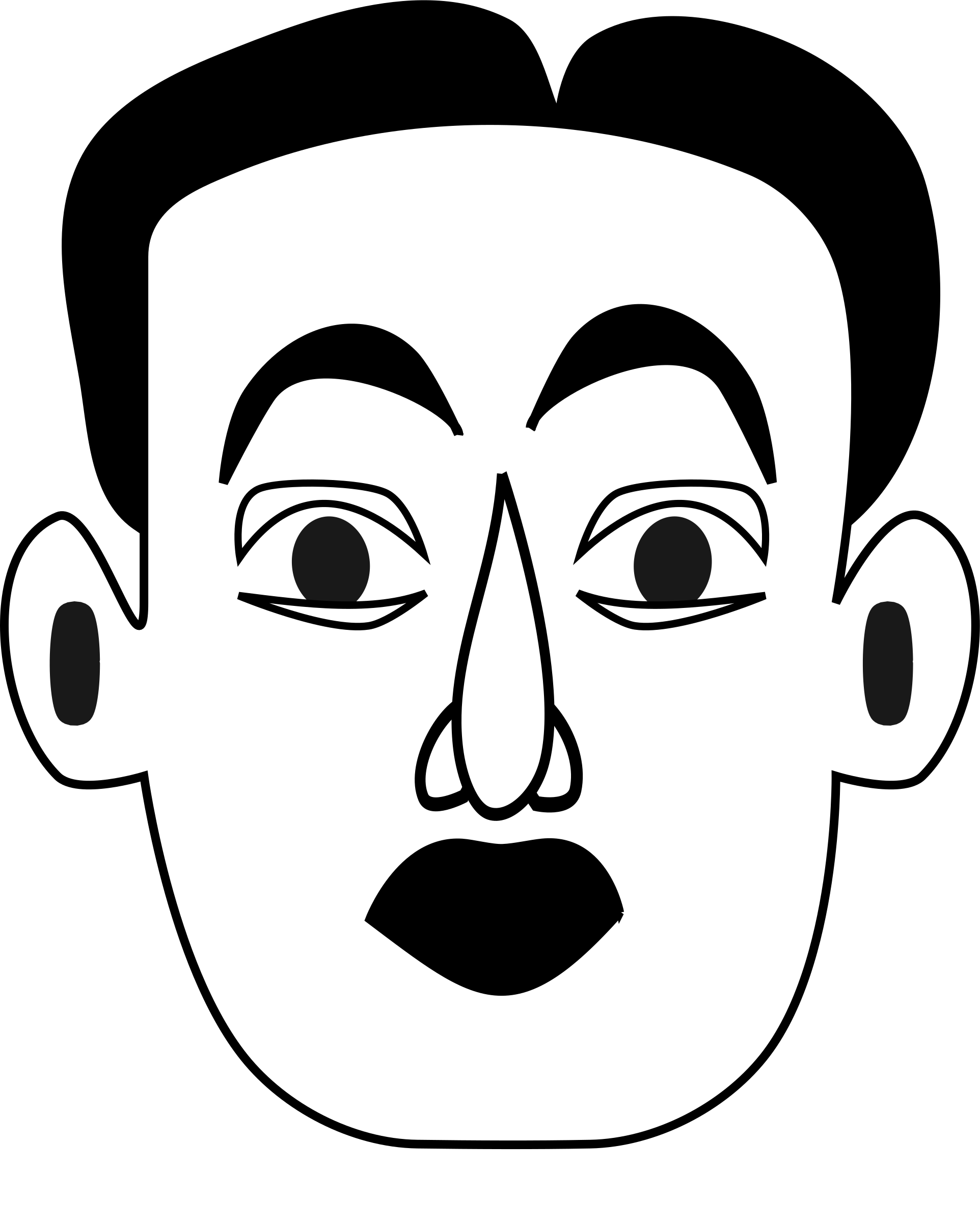 Surprised clipart eyebrow. Emotions big image png