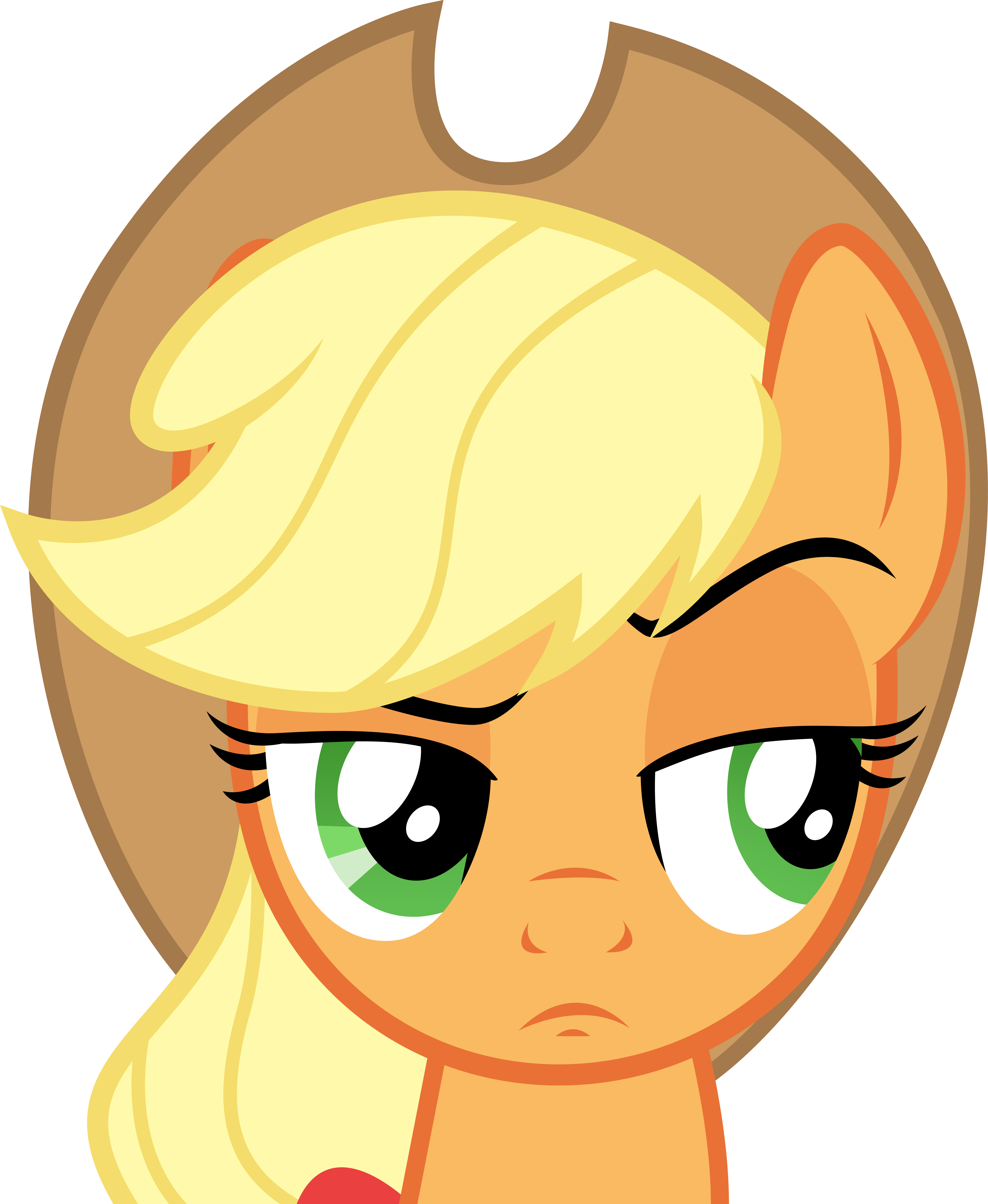 Surprised clipart eyebrow. Fascinating tv tropes applejack