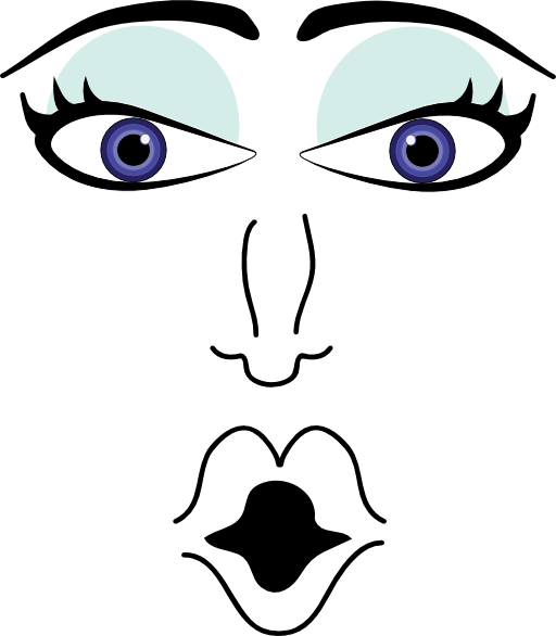 Surprised clipart eyebrow. Woman i royalty free