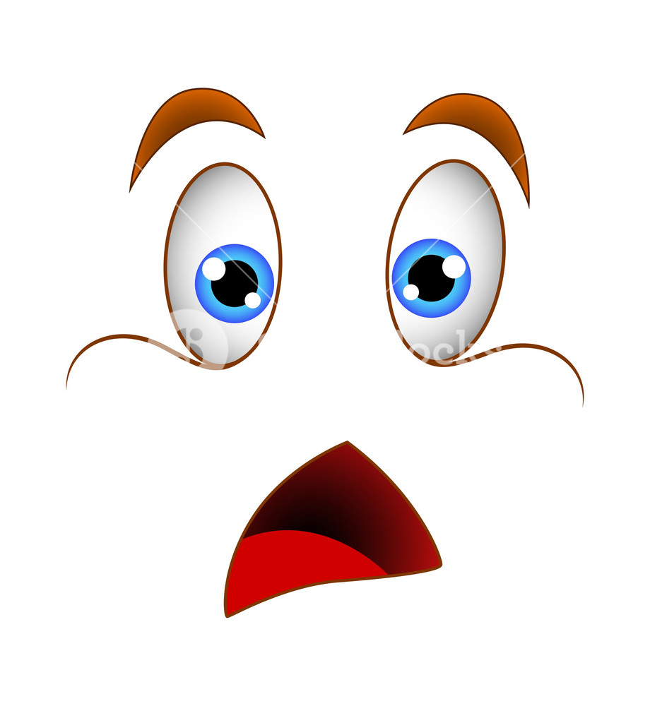 Eyebrow clipart surprised. Shocked face illustration royalty