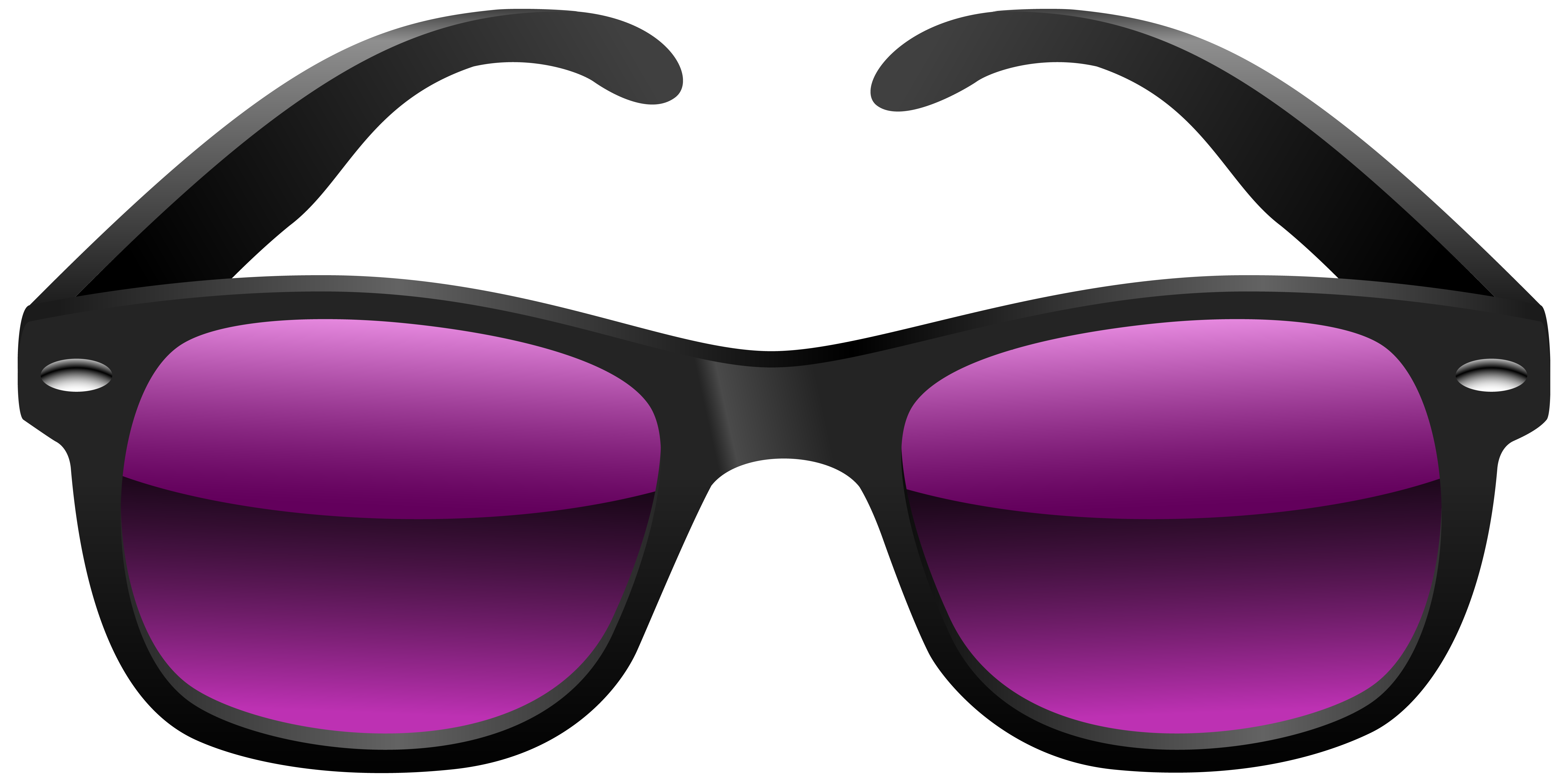 Sunglasses clipart picart. Black and purple sunglass