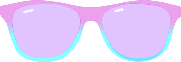 Goggles vector shade. Purple and blue shades