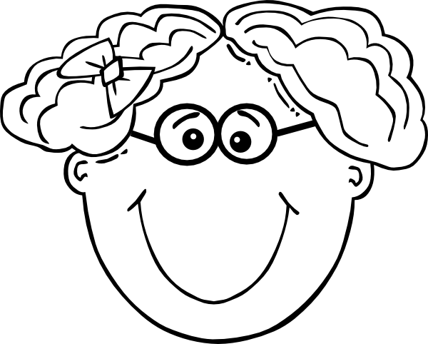 Eyeglasses clipart short black hair. Girl glasses clip art