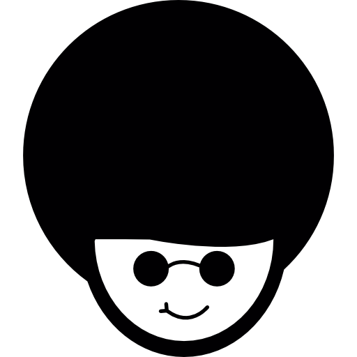 Eyeglasses clipart short black hair. Afro look combined with