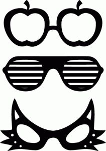 Eyeglasses clipart spects. Glasses printable template to