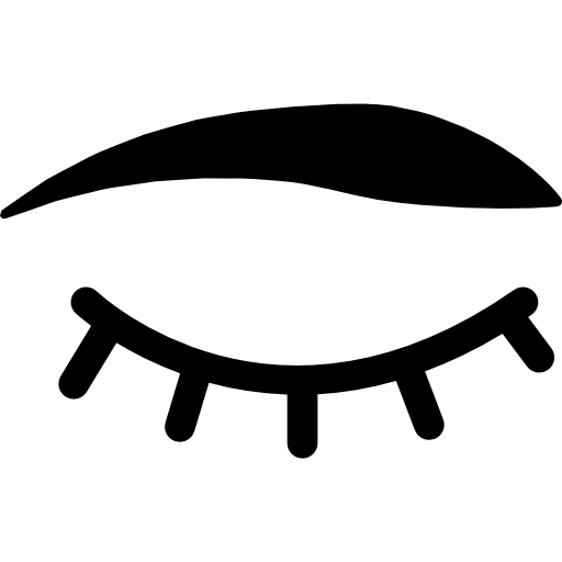 Lashes svg cartoon. Closed eyes with and