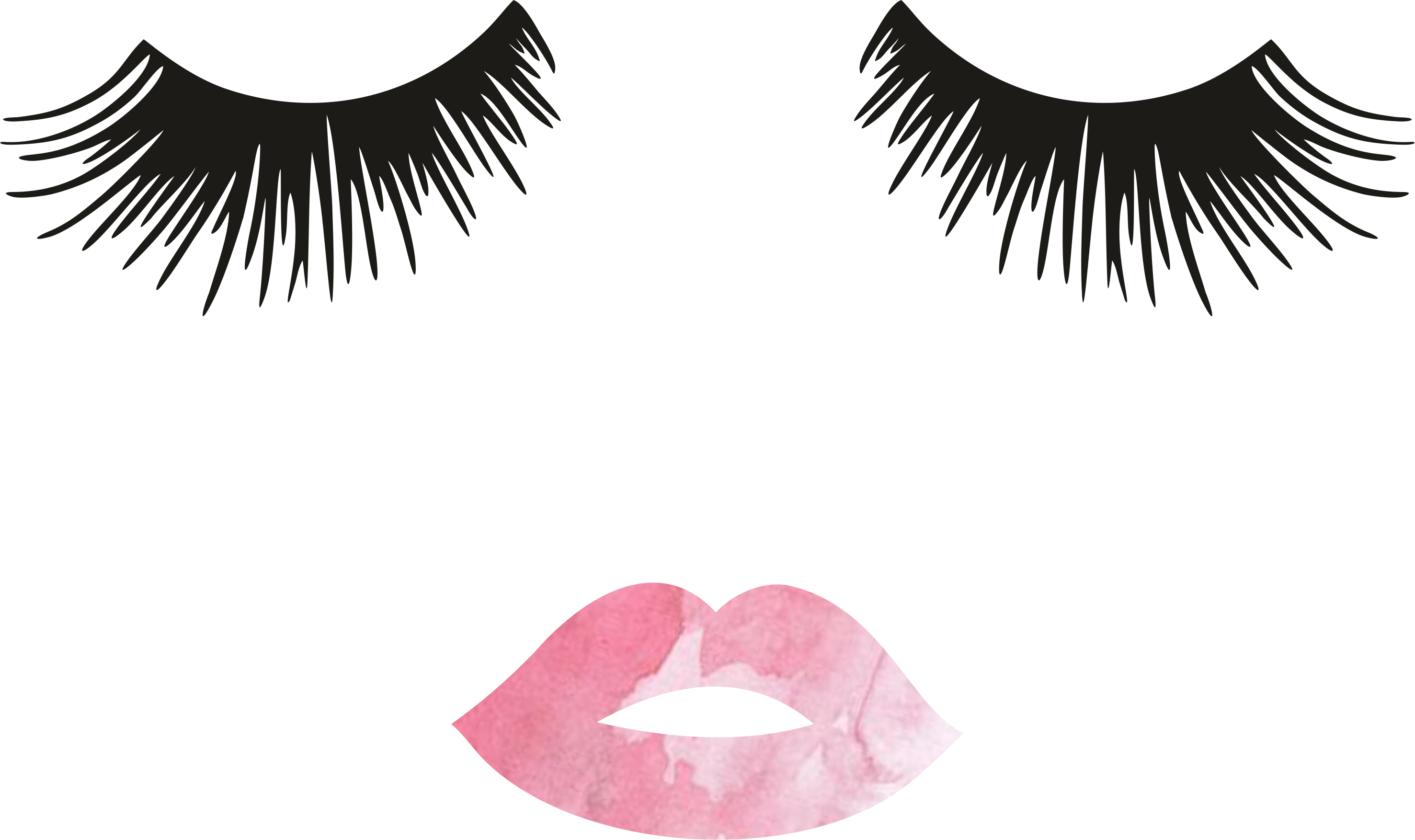 lip clipart eyelash