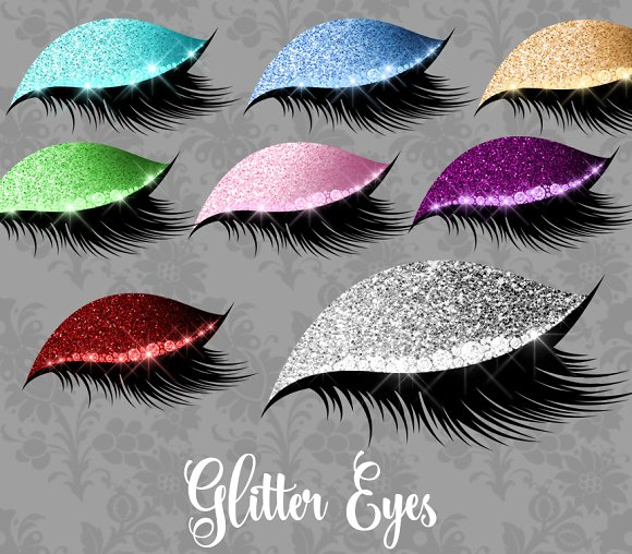 Eyelash clipart purple eye. Glitter eyes illustrations creative