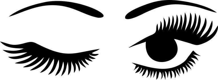 Eyelash clipart wink. Winking eyelashes digital download