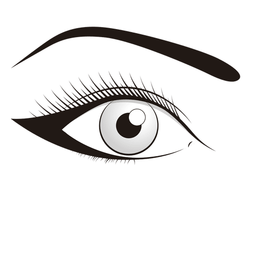 Make up illustration transparent. Colorful vector eye image freeuse download