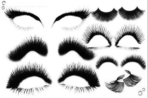 Eyelashes clipart brushes photoshop. Sets of free