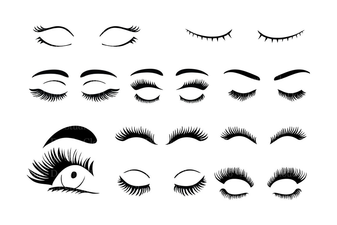 Eyelashes Embroidery Transparent & PNG Clipart Free Download - YA
