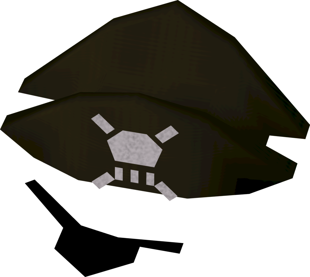Hat and eyepatch runescape.  jpg black and white stock