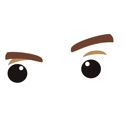 Eyes cartoon png. Funny expression transparent svg