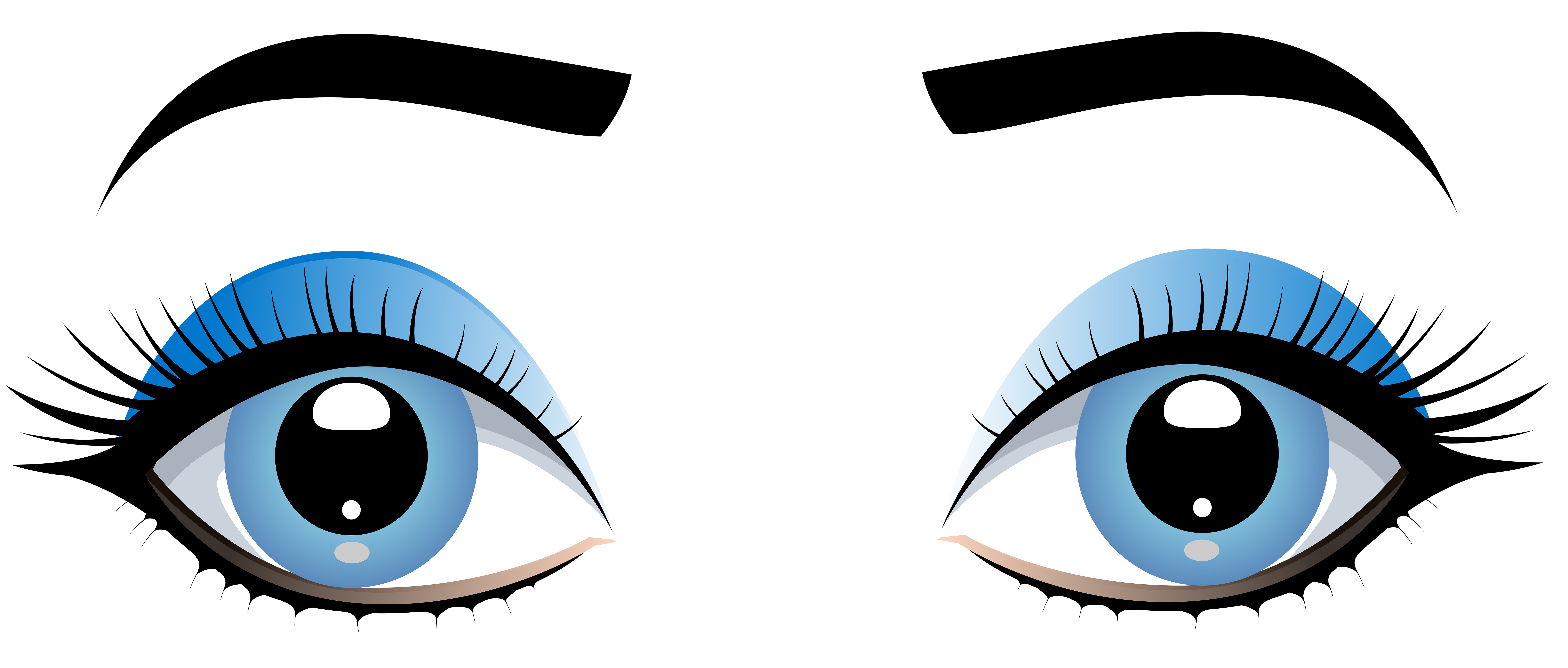 Blue female with eyebrows. Eyes l png clip art free download