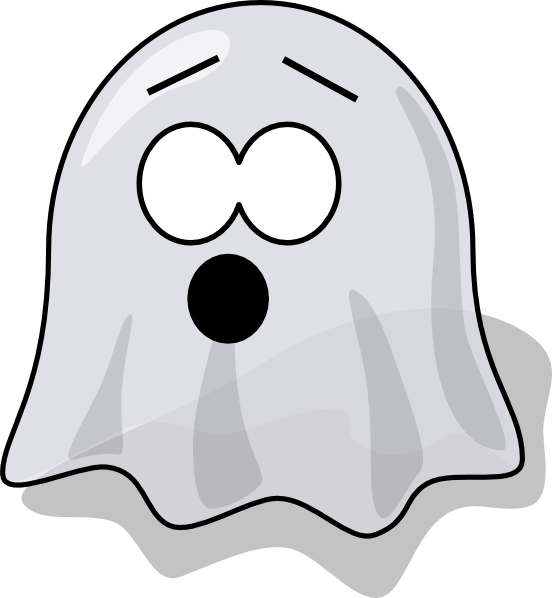 Cute ghost clipart scared. Vector alligator scary picture library stock