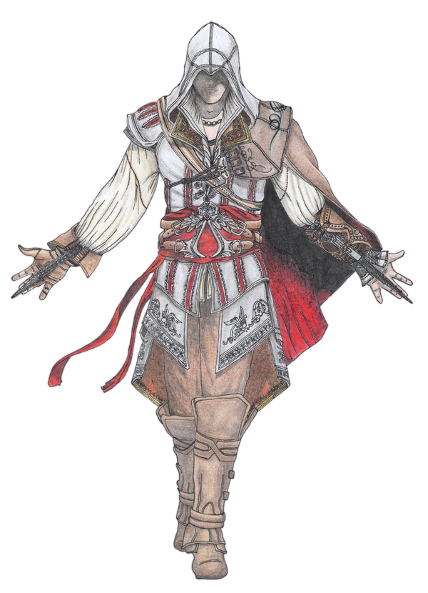 Ezio drawing sketch. Auditore png ac by