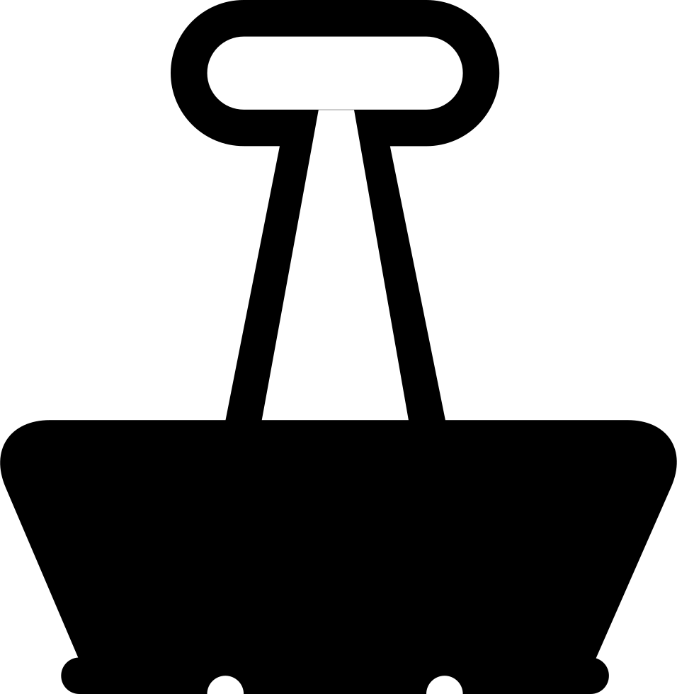 F clip. Binder svg png icon