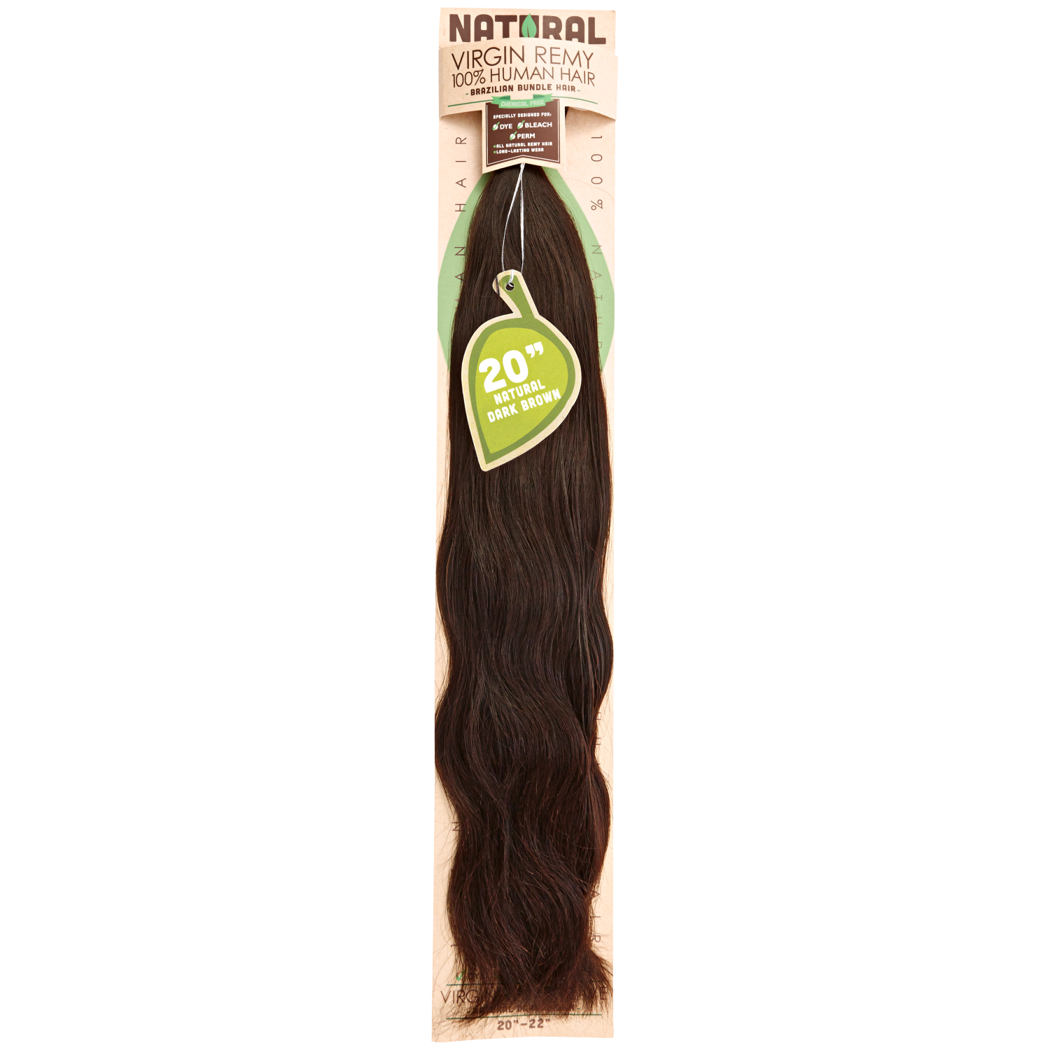 F clip inch. Sassy natural dark brown