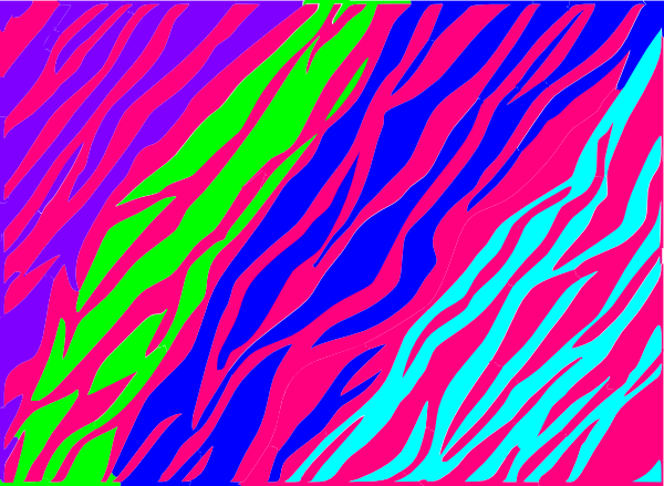 Trippy vector background. Neon zebra print backgrounds