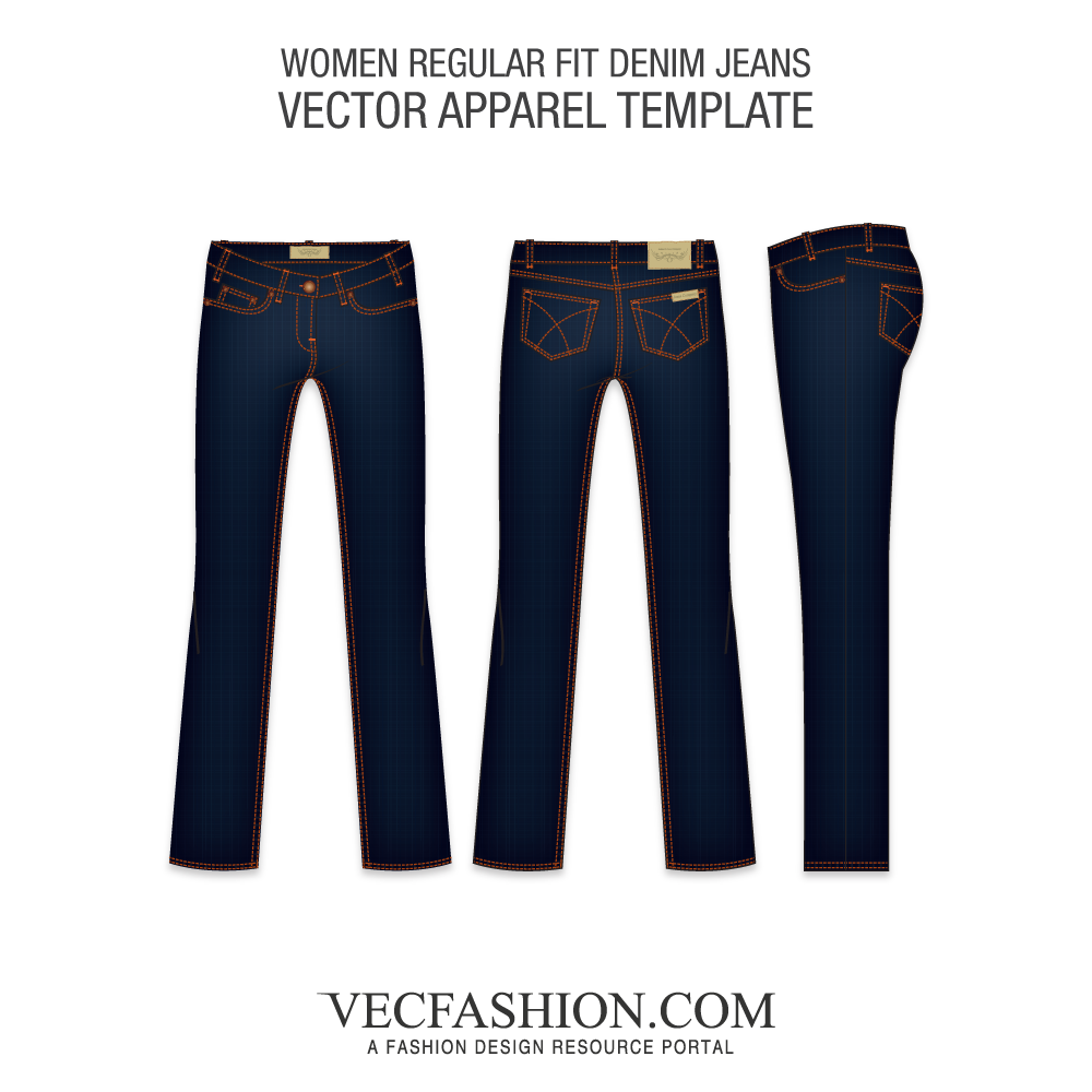 Fabric vector jeans. Women s fashion flats