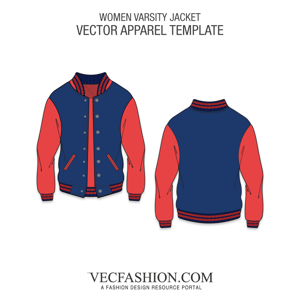 Vector shirts different. Sport varsity jacket template