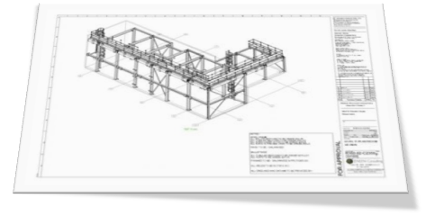 Fabrication drawing steelwork. Drawings services steel detailing