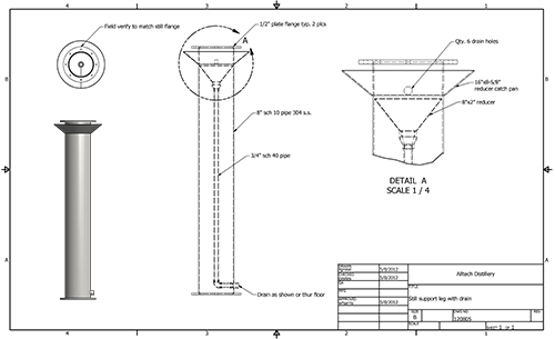 Drawing items mechanical. Pmi industrial construction fabrication