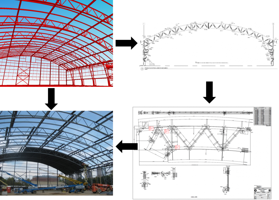 Fabrication drawing civil engineering. Modeling for walter p