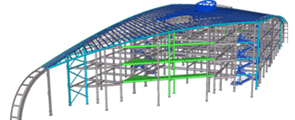 Fabrication drawing peb. Steel structural designing engineering