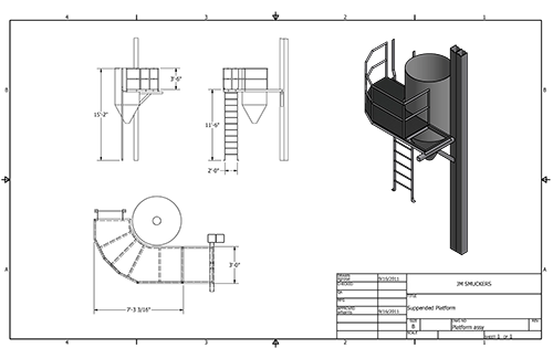 Fabrication drawing structural. Pmi industrial construction winchester