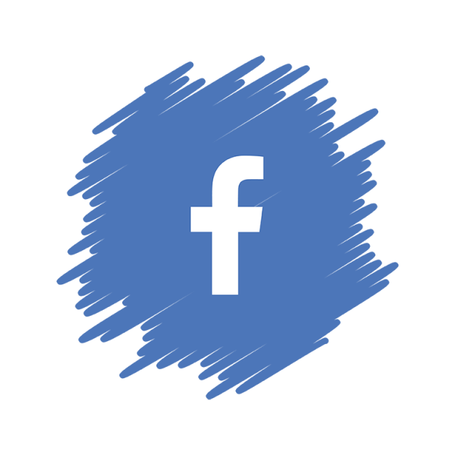 Facebook png. Social media icon watercolor