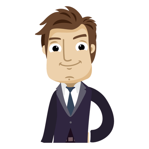 Business vector png. Executive cartoon character transparent