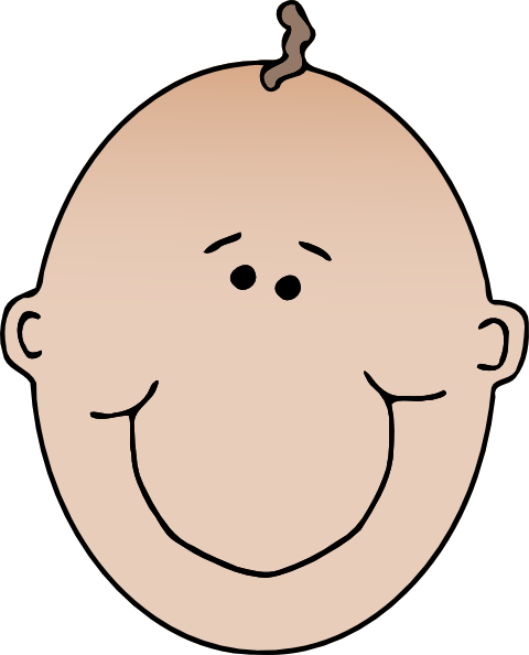 Face clipart. Baby clip art at