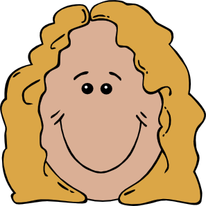 Face clipart. Lady clip art at