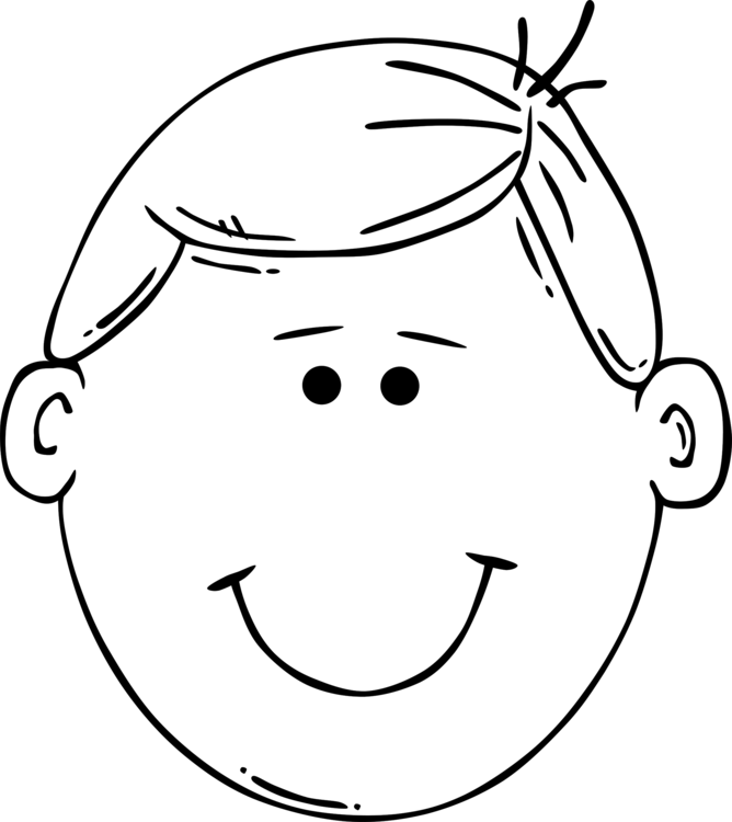 Face clipart book. Child drawing boy coloring