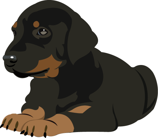 Doberman vector silhouette. Free cliparts download clip