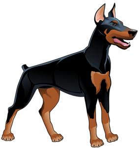 Paws clipart doberman. Png dogs and
