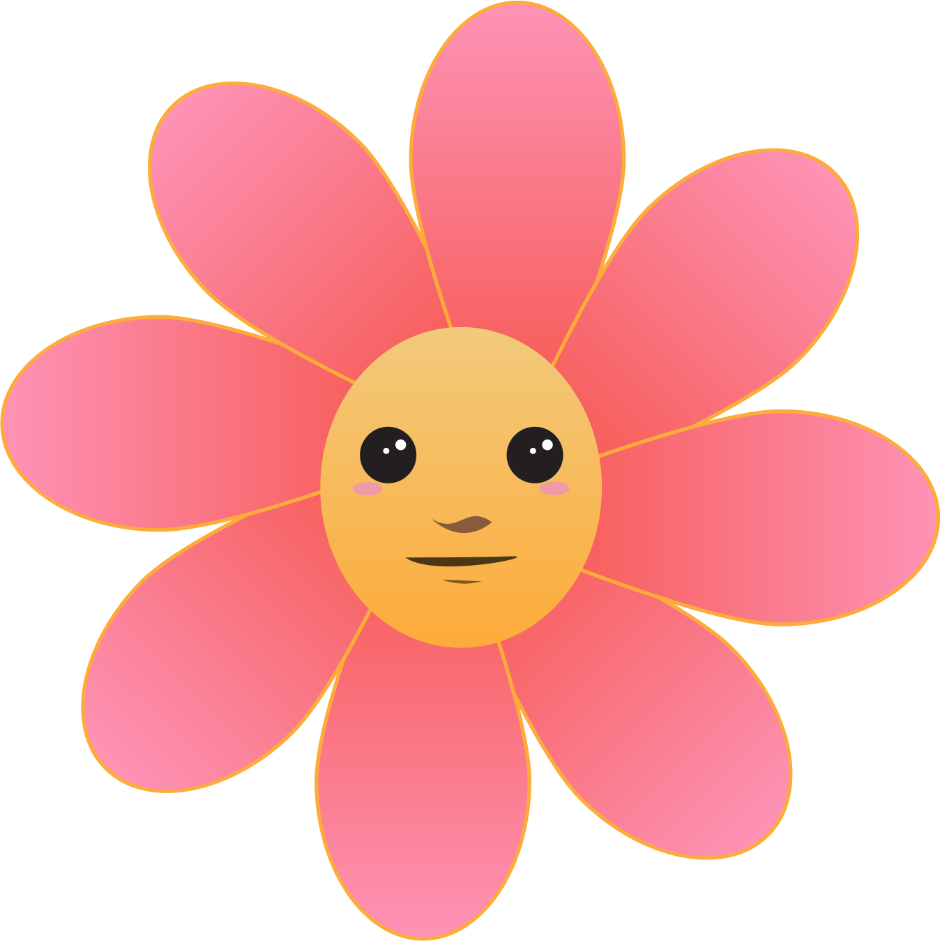 Face clipart flower. Big image png