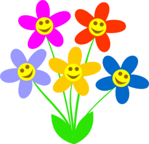 Face clipart flower. Free smiley cliparts download