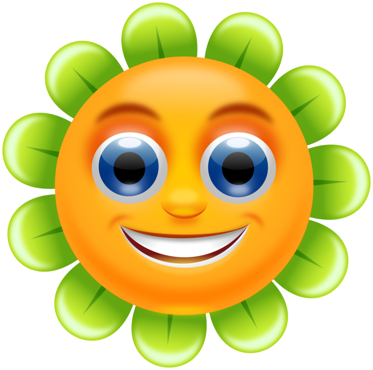 Face clipart flower. Smiley emoticon free commercial